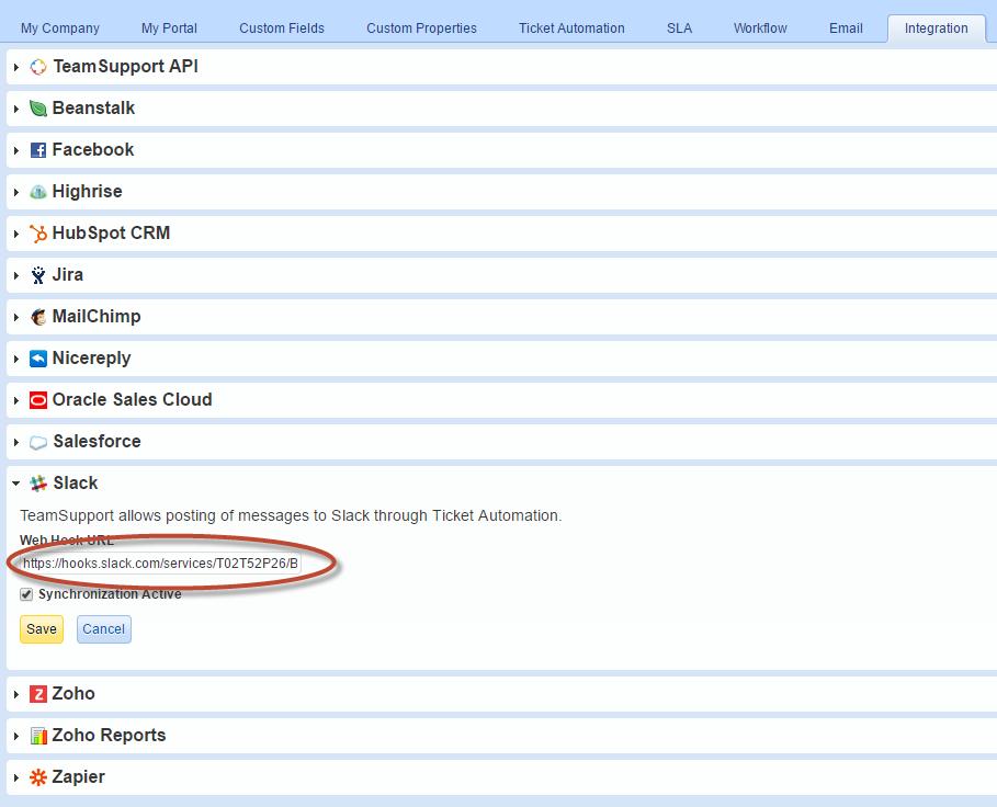 Integrating TeamSupport with Slack | TeamSupport Customer Hub
