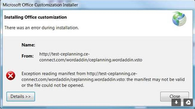 Ce Planning + Ce Pretrial - Installing Word Add-Ins