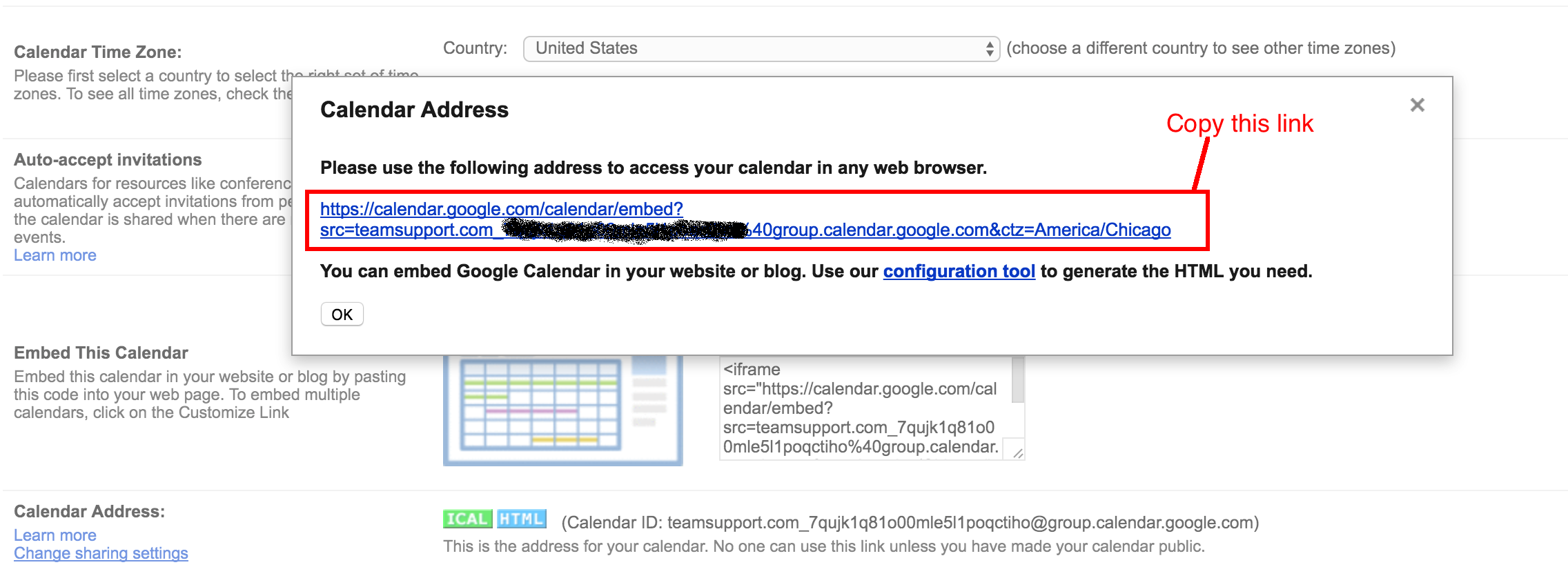 Adding your Gmail Calendar to your Dashboard as an External
