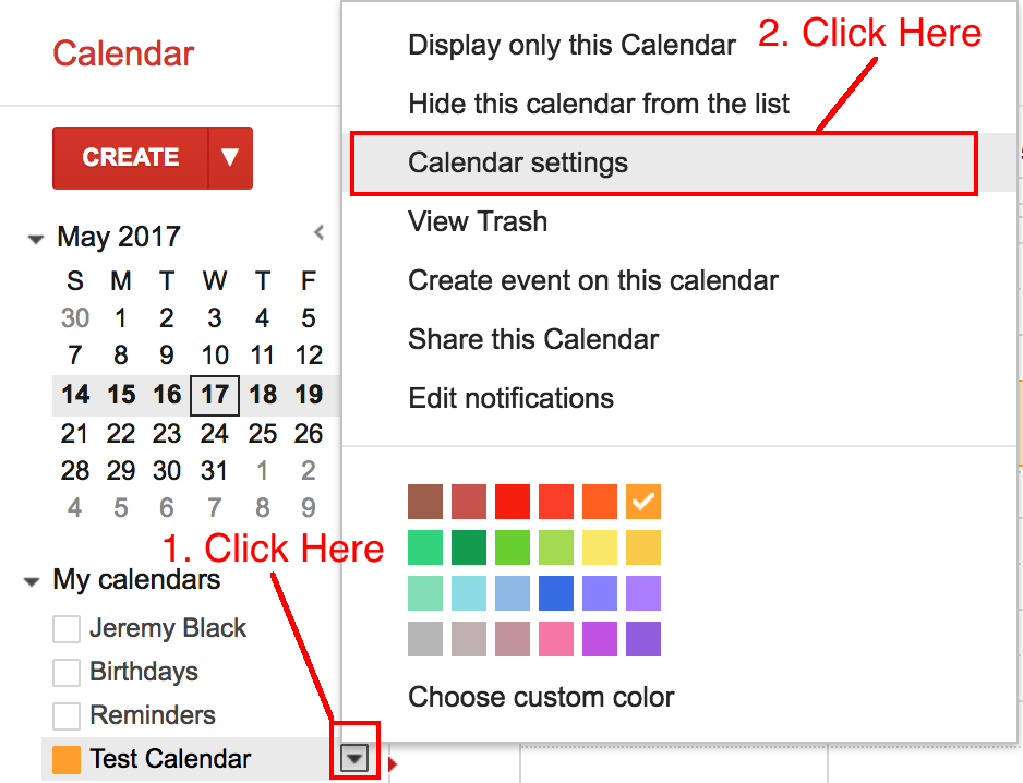 Adding your Gmail Calendar to your Dashboard as an External Report